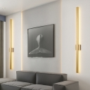 Bar Flush Mount Wall Sconce Minimalist Metallic 23.5