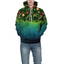 Cool Mens 3D Hoodie Christmas Tree Star Decorations Dots Pattern Drawstring Full Sleeve Regular Fitted Hooded Sweatshirt with Pocket