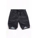 Leisure Guys Solid Color Drawstring Waist Straight Shorts