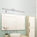 LED Toilet Vanity Lamp Fixture Modernism White Wall Mounted Lighting with Ultra-Thin Metal Shade in Warm/White Light