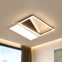 Simple Rectangle Ceiling Flush Mount Acrylic 18
