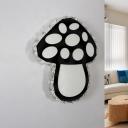 Black Mushroom Wall Lighting Fixture Simple Beveled Crystal LED Wall Mount Light for Bedroom