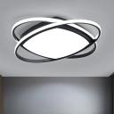 Ellipse Sleeping Room Ceiling Fixture Metallic 19.5