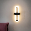 Contemporary Oblong Wall Mount Lamp Metal 16