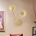 Circular Metal Wall Sconce Lighting Modern LED Gold Wall Mount Light for Living Room