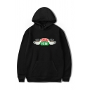 Hot Popular CENTRAL PERK Printed Long Sleeve Oversized Drawstring Hoodie with Pocket