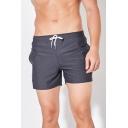Popular Mens Plain Elasticated Drawstring Waist Pocket Mid Rise Regular Fit Track Shorts