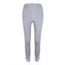 Womens Hot Popular Plain Printed Elastic Waist Patch Stretch Legging Pants