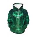 Vintage Mens 3D Hoodie Abstract Circle Checked Ball Visual Deception Pattern Drawstring Regular Fitted Long Sleeve Hoodie