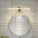 Bar Vanity Wall Light Fixture Modernism Metallic Gold/Black LED Wall Mount Lighting for Bathroom