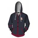 Popular Hoodie 3D Logo Printed Zipper up Long Sleeve Pocket Drawstring Fitted Hooded Sweatshirt for Men