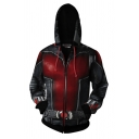 New Stylish Cosplay Costume Zip Up Black and Red Hoodie
