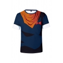 Mens Chic T-Shirt Cosplay 3D Printed Round Neck Short Sleeve Regular Fit Tee Top