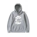 Mens Stylish Hoodie Letter Oyaoya Printed Drawstring Relaxed Fitted Long Sleeve Hooded Sweatshirt
