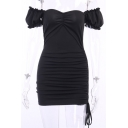 Ladies New Stylish Black Plain Stringy Selvedge Straps Mini Bodycon Slip Dress