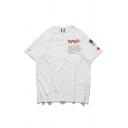 New Stylish NASA Printed Basic Round Neck Short Sleeve Casual T-Shirt