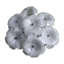 Floral LED Flush Mount White Glass Energy Saving Surface Mount Ceiling Light for Living Room