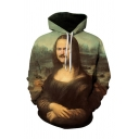 Popular 3D Hooded Sweatshirt Figure Pattern Pocket Drawstring Long Sleeve Regular Fitted Hoodie for Men