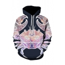 Stylish Mens 3D Hoodie Crab Pattern Long Sleeve Pocket Drawstring Regular Fitted Hooded Sweatshirt