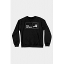 Chic Sweatshirt Letter Home Office Printed Regular Fitted Long Sleeve Graphic Sweatshirt for Women