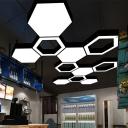 Beehive Design Acrylic Ceiling Light Modern Black LED Commercial Pendant Lighting Fixture, 18