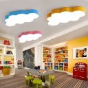 Macaron Cloud Flush Ceiling Light Acrylic 19.5