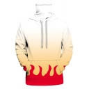 Fashion Hooded Sweatshirt 3D Color Block High Neck Drawstring Kangaroo Pockets Long-sleeved Fitted Hoodie for Men