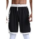 Cool Mens Shorts Contrast Trim Split Hem Regular Fitted Drawstring Waist Knee-Length Sport Shorts
