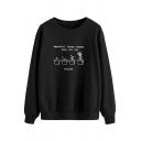 Womens Sweatshirt Trendy Potted Plant Letter Beautiful Things Happen When You Are Patient Print Crew Neck Long Sleeve Loose Fit Pullover Sweatshirt