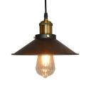 Black Flared Pendant Light Fixture Factory Metal 1 Bulb Dining Table Ceiling Hang Lamp