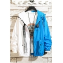 Summer Unique Fashion Two-Tone Colorblocked Long Sleeve Zip Up Hooded Sun Protection Jacket Coat