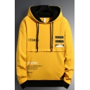 Mens New Fashion Letter COSMOS Printed Long Sleeve Casual Sports Drawstring Hoodie