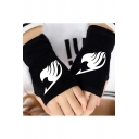 Gloves Trendy Anime Fairy Tail Cotton Half-Finger Breathable Knitted Gloves