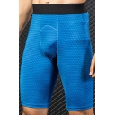 Mens Shorts Simple 3D Geometric Print Flatlock Seam Skinny Fitted Stretch Quick-Dry Sport Shorts