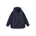 Cool Mens Cotton Sweatshirt Plain Side Split Hem Button Detail Long Sleeve Relaxed Fitted Hoodie
