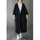Cool Girls Windbreaker Plain Cotton Pocket Button Long Sleeve Full Oversized Hooded Jacket
