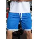 Mens Shorts Casual Side Split Stripe-Hem Knee Length Drawstring Waist Loose Fitted Quick Dry Sport Shorts