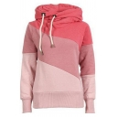 Women's Color Block Hooded Long Sleeve Hoodie