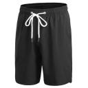 Retro Mens Shorts Plain Regular Fitted Drawstring Waist Quick-Dry Sport Shorts