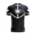 Novelty Womens Tee Top Color Block Spiral Dot Pattern Anime The Last Airbender Short Sleeve Round Neck Slim Fitted Tee Top