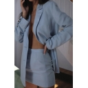 Retro Womens Suit Jacket Plain Two-Button Tunic Long Sleeve Lapel Collar Slim Fitted Suit Jacket