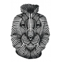 Black and White Vertigo Hypnotic Vortex Optical Illusion 3D Pattern Loose Fit Pullover Hoodie