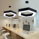 Honeycomb Office Commercial Pendant Lighting Acrylic 16