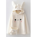 Womens Hoodie Casual Rabbit-Ear Sherpa Drawstring Long Sleeve Relaxed Fitted Hooded Sweatshirt