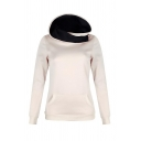 New Fashion Letter FAITH Pattern Long Sleeve Slim Fitted Hoodie for Women