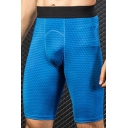 Vintage Mens Shorts 3D Geometric Print Elastic Waist Quick-Dry Stretch Skinny Fitted Sport Shorts