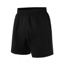Mens Shorts Unique Solid Color Regular Fitted Elastic Waist Quick-Dry Sport Shorts with Pockets