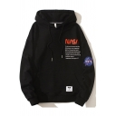 Unisex Classic NASA Letter Printed Long Sleeve Oversized Hoodie with Pouch Pocket