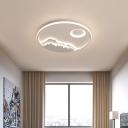 White Round LED Ceiling Lighting Modern 17