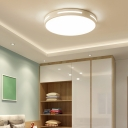 Round/Square Flush Mount Ceiling Lamp Simple Acrylic White LED Flush Light with Cutouts Side, 12